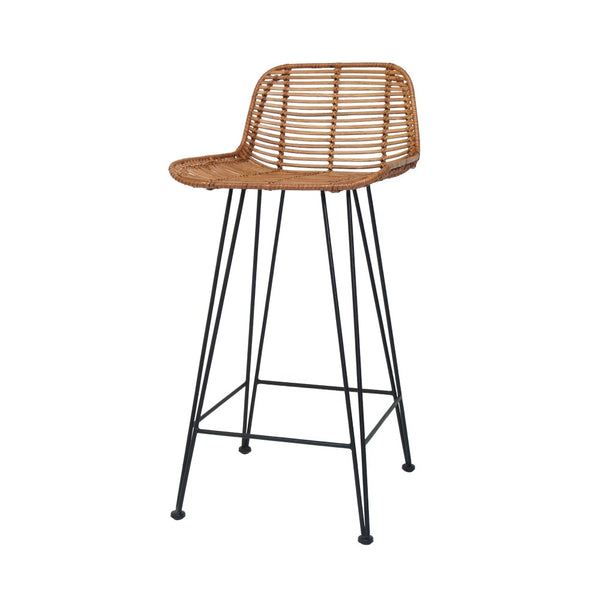 Rattan Bar Stool | Honey