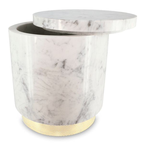The Fox Ice Bucket (white marble)