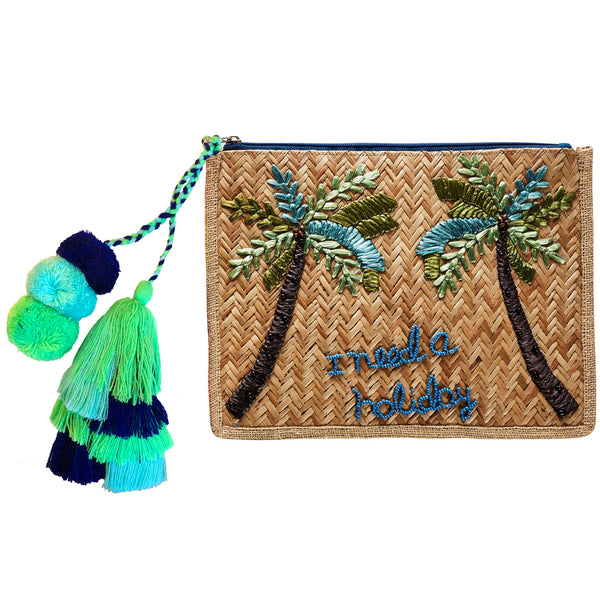 Summertime Palm Clutch