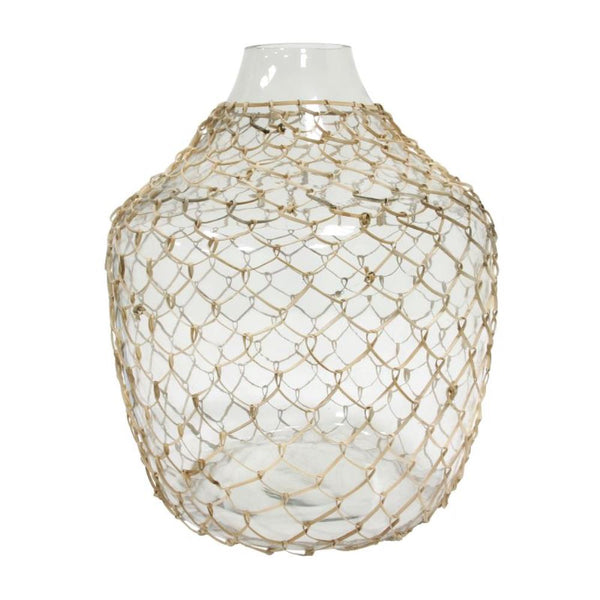 Wicker Glass Vase