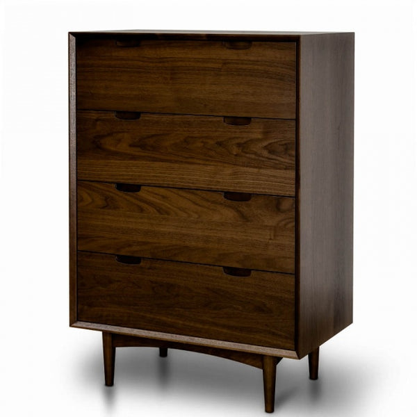 4 Drawer Chest Scandinavian Design - Walnut