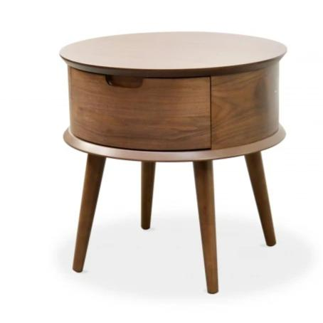 Scandinavian Side Table - Walnut