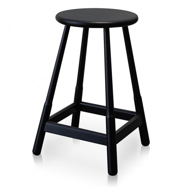 Round Black Bar Stool (also available in natural)