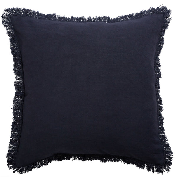 Monaco Fringe Cushion | Slate
