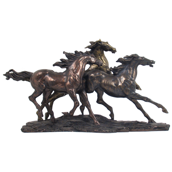 Bronze Wild Horses of Carmague by Gabriella Veronese