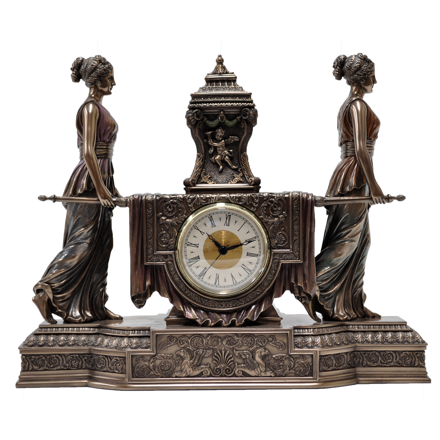 Bronze Baroque Clock