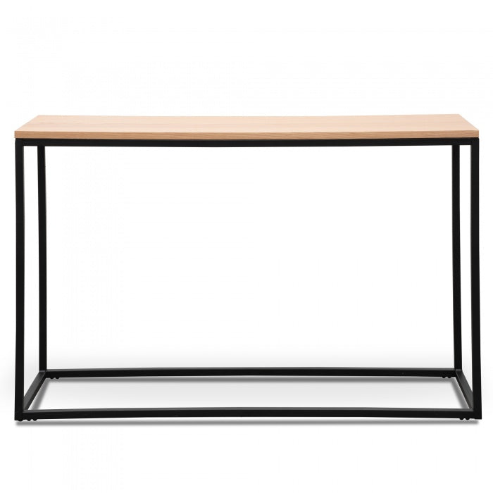 Natural Console Table - Black