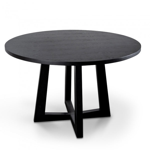 1.2m Round Dining Table - Black or Natural