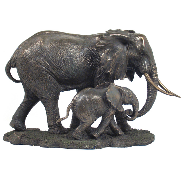 Bronze Elephant and Cub