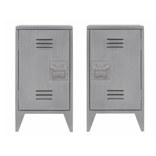 Timber Bedside Tables -  Grey (set of 2)