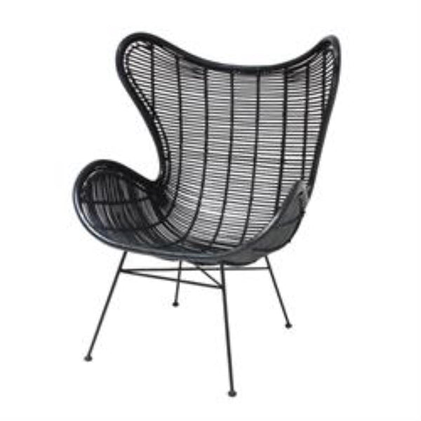 Rattan Egg Chair | Black
