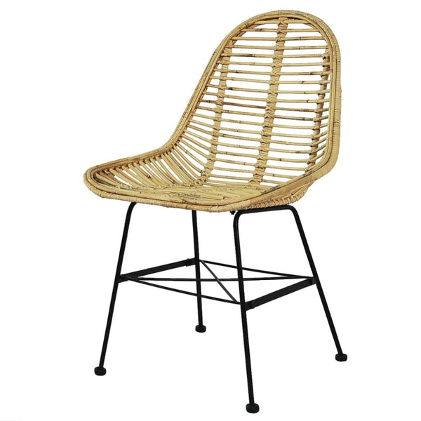 Rattan Dining Chair (Black or Natural)