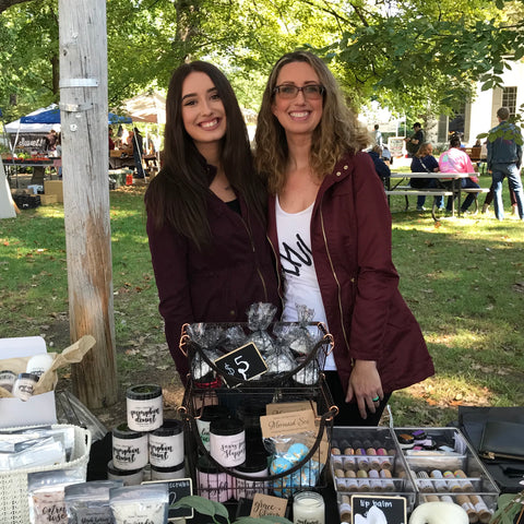 In the Grace + Bloom booth at the farmers market