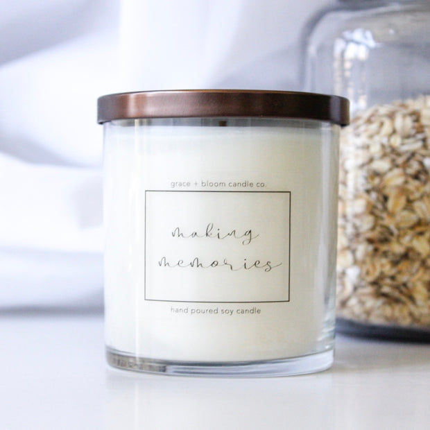 making memories | minimalist soy candle - Grace + Bloom Co