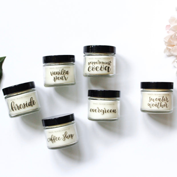 Sample Size Candles | Choose any 3 - Grace + Bloom Co