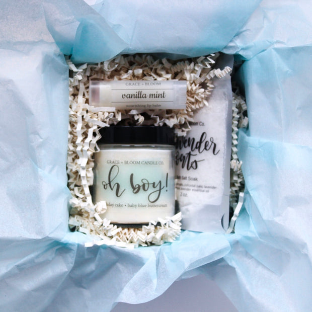 New Baby Boy | Boxed Gift - Grace + Bloom Co