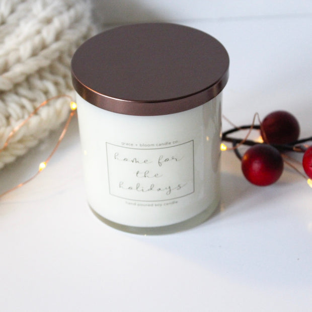 Holiday + Winter Large Candles | Choose a Scent - Grace + Bloom Co