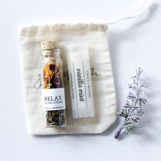 Mini Spa Facial Gift Set - Grace + Bloom Co