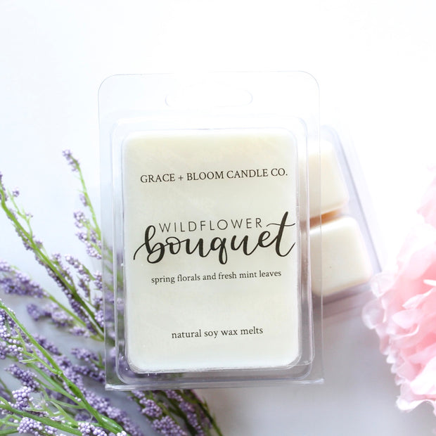 Wildflower Bouquet Wax Melts - Grace + Bloom Co