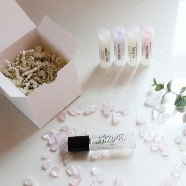 Crystal-Infused Perfume Gift Set - Grace + Bloom Co