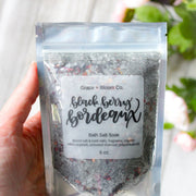 Black Berry Bordeaux Bath Salts - Grace + Bloom Co