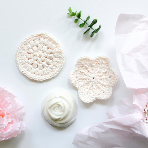 Facial Soap + Scrubbies Gift Box - Grace + Bloom Co
