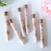 These adorable tubes of bath salts from Grace + Bloom make excellent wedding, bridesmaid, corporate event, or shower favors or gifts.