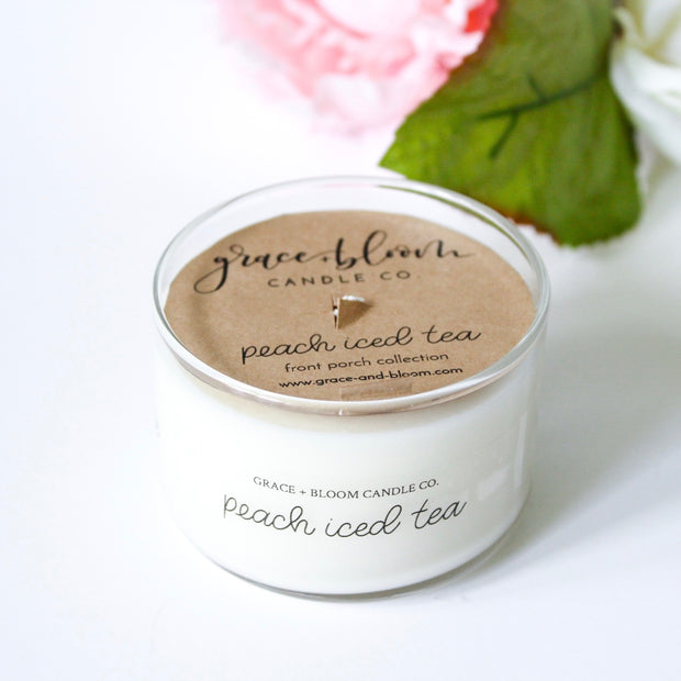Peach Iced Tea Mini Candles - Grace + Bloom Co