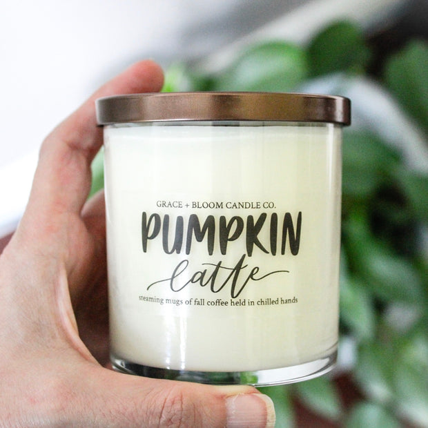 Pumpkin Latte Fall Candle - Grace + Bloom Co