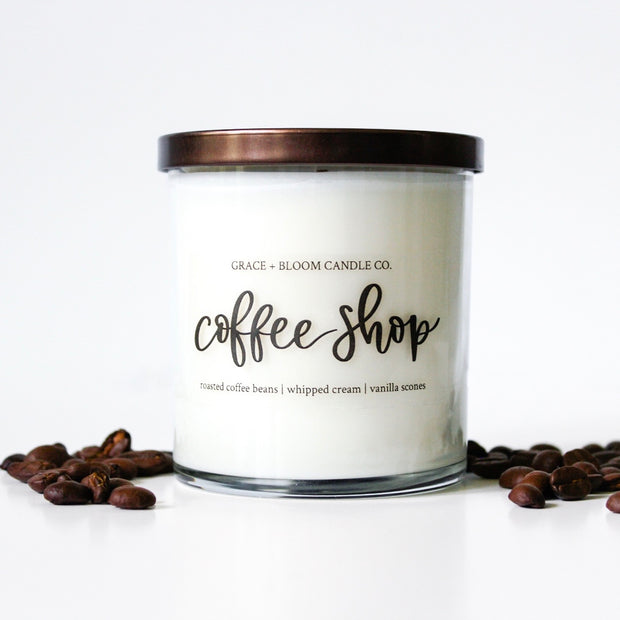 Coffee Shop Soy Candle - Grace + Bloom Co
