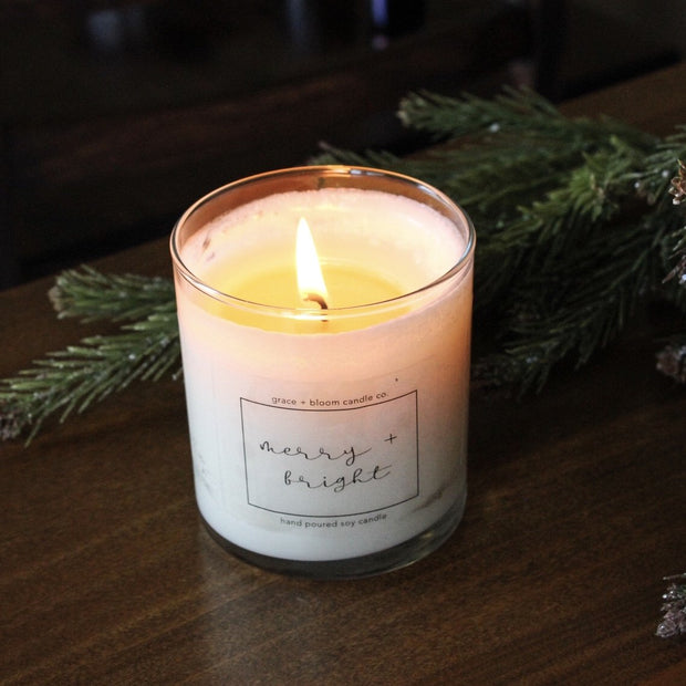 merry + bright | minimalist soy candle - Grace + Bloom Co