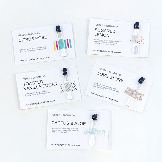 Perfume Oil Samples - Grace + Bloom Co