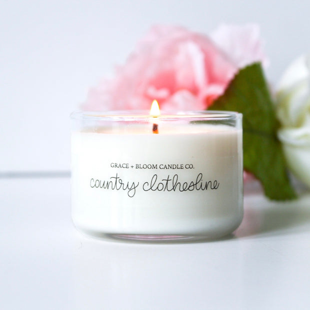 Country Clothesline Mini Candles - Grace + Bloom Co