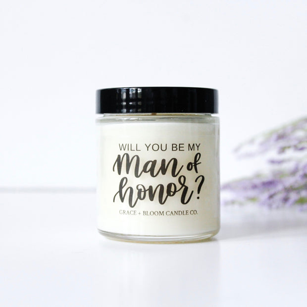 Man of Honor Proposal Candle - Grace + Bloom Co