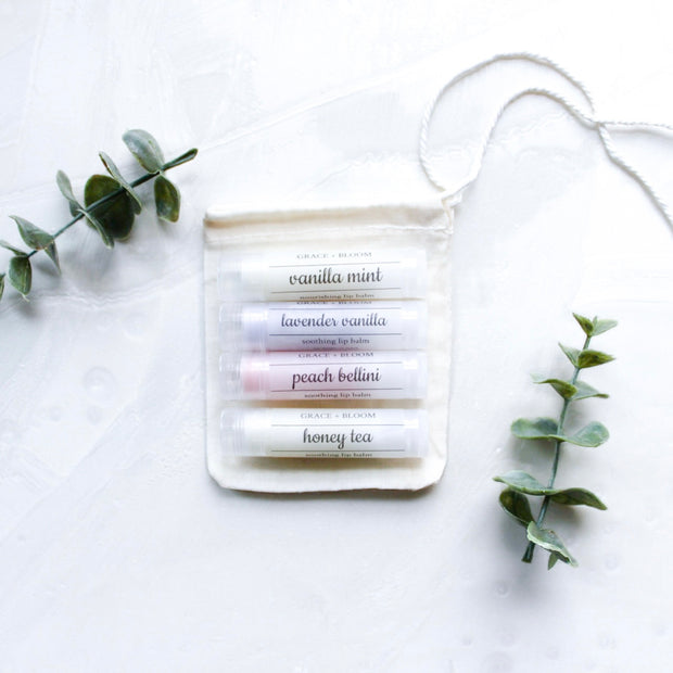 Set of 3 Lip Balms - Grace + Bloom Co