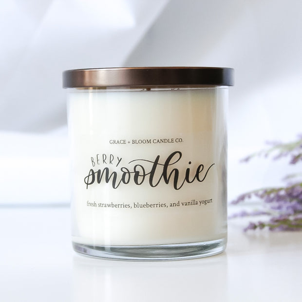 Berry Smoothie Soy Candle - Grace + Bloom Co