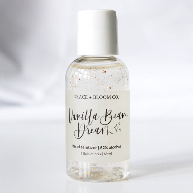 Vanilla Bean Hand Sanitizer | 62% Alcohol - Grace + Bloom Co