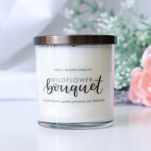 Wildflower Bouquet Soy Candle - Grace + Bloom Co