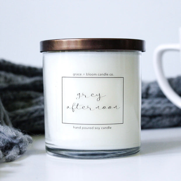 grey afternoon | minimalist soy candle