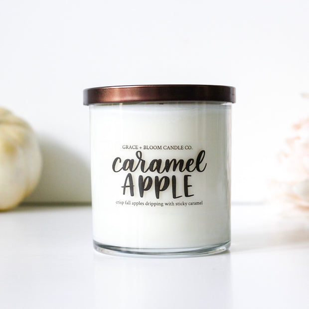 Caramel Apple Soy Candle - Grace + Bloom Co