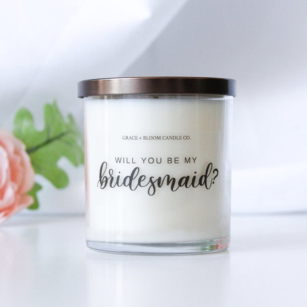 Bridesmaid Large Candle - Grace + Bloom Co