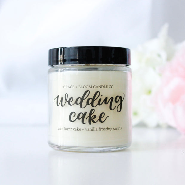 Wedding Cake | Small Soy Candle | Wedding Favors - Grace + Bloom Co