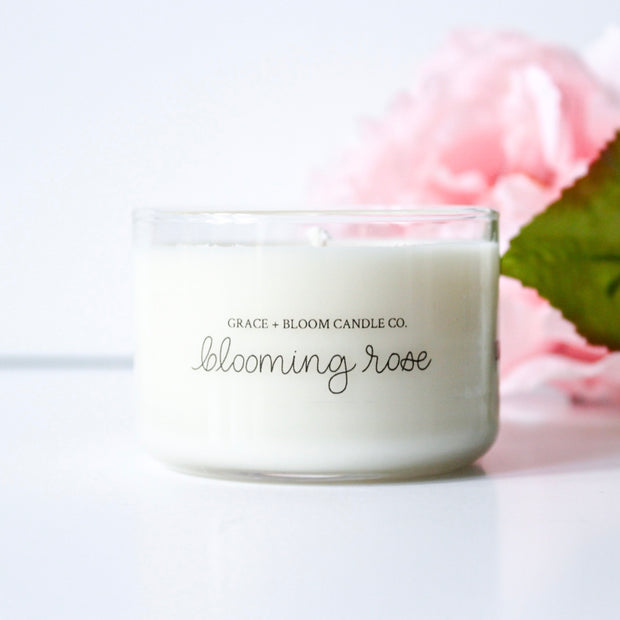 Blooming Rose Mini Candles
