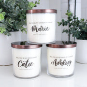 Personalized Bridesmaid Proposal Candles - Grace + Bloom Co