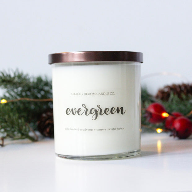 Evergreen Soy Candle - Grace + Bloom Co