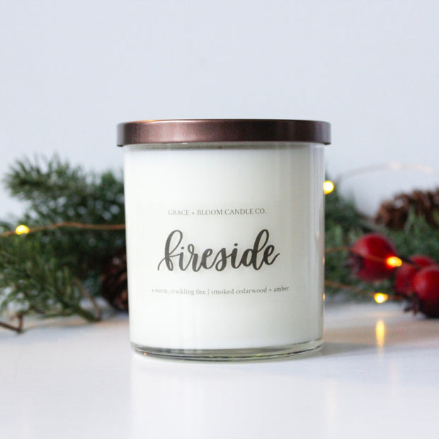 Fireside Soy Candle - Grace + Bloom Co