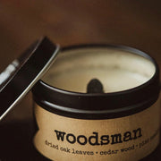 woodsman, a candle from Grace + Bloom: With the scents of dried oak leaves, cedarwood, and pine needles, you can enjoy the fragrances of the great outdoors, even if you aren't really the type to go out into the woods yourself.