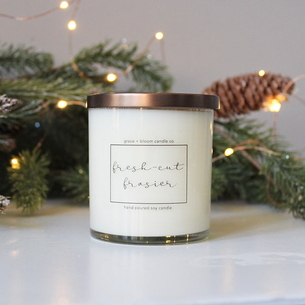 fresh-cut frasier | minimalist soy candle - Grace + Bloom Co