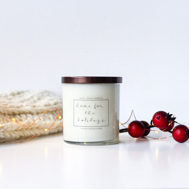 Home for the Holidays | minimalist soy candle - Grace + Bloom Co
