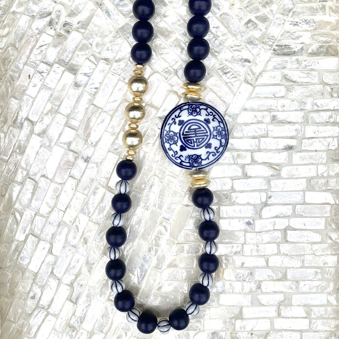 The Margo Necklace | Navy